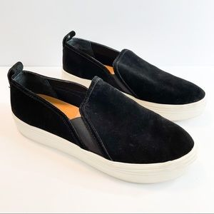 Dolce Vita Black Suede Slip On Sneaker